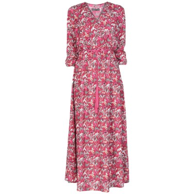 SOALLURE ロングワンピース&ドレス ガーネット 42 ポリエステル 95% / ポリウレタン 5% ロングワンピース&ドレス