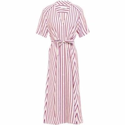 サンドロ SANDRO レディース ワンピース シャツワンピース ワンピース・ドレス clarence striped twill midi shirt dress Pastel pink