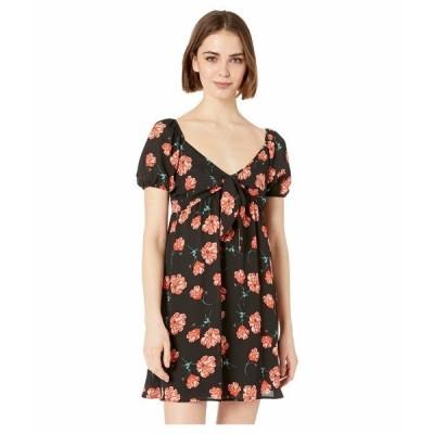 ジャック バイ ビービーダコタ ワンピース トップス レディース Pretty in Poppies Printed Tie Front Dress Black