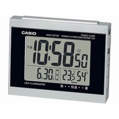デジタル電波クロック カシオ計算機 DQD-710J-8JF