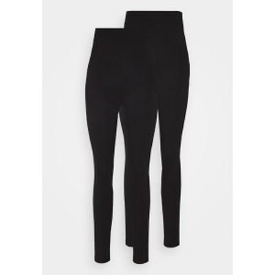 エブンアンドオッド レディース レギンス ボトムス 2 PACK HIGH WAISTED LEGGINGS - Leggings - Trousers - black black