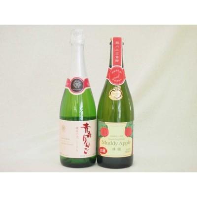 国産林檎スパークリングワイン2本セット(辛口、やや甘口)(青森県 長野県) 720ml 750ml