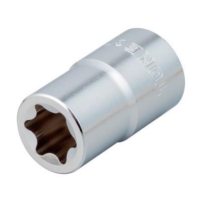 TONE E型トルクスソケット No.E6 差込角9.5mm 3TX−E06 1個 (メーカー直送)