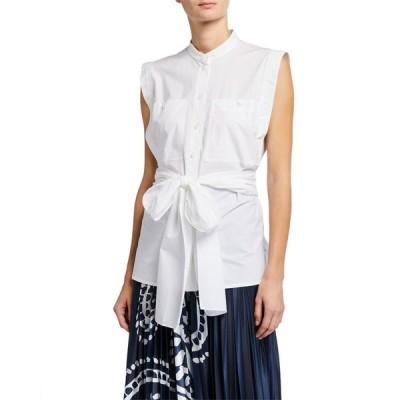 エスカーダ レディース シャツ トップス Norrela Sleeveless Tie-Waist Shirt