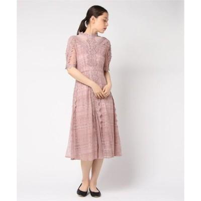 ドレス オールケミカルレース ミモレ丈ワンピースドレス