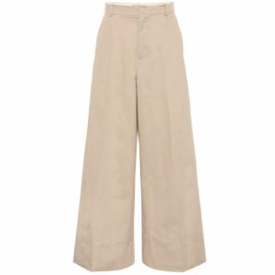 マルニ Marni レディース ボトムス・パンツ High-rise cotton and linen pants