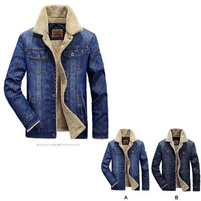 秋冬 メンズジャケット デニムジャケット 裏起毛 Gジャン ブルゾン メンズコート ミリタリーコート ジャンパ 大きいサイズ カジュアル30代40代50代