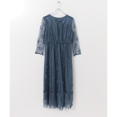 ドレス 【一部WEB限定カラー】LA MAISON 総レースロングワンピース