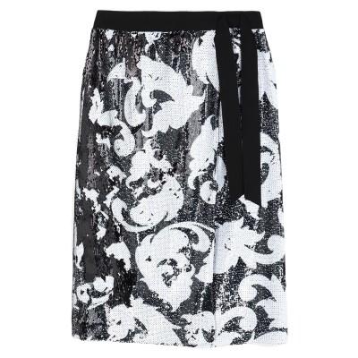 マルコ ボローニャ MARCO BOLOGNA ひざ丈スカート ブラック 46 ポリエステル 100% ひざ丈スカート