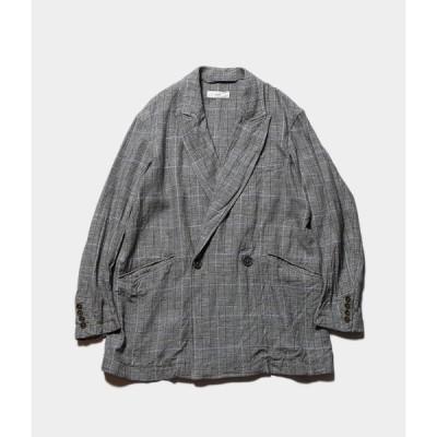 "【CLEARANCE SALE 40%OFF】unfil アンフィル ""glen checked-tweed oversized jacket"" グレンチェックツイードオーバーオールズジャケット"