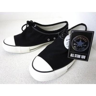 【中古】未使用品 コンバース CONVERSE オールスター 100 トグル OX スニーカー 黒 27.5cm 1CL741 靴 シューズ メンズ