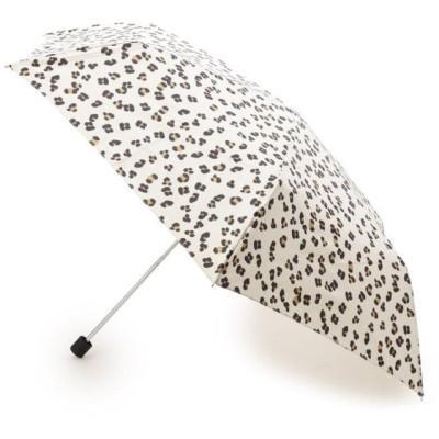 (SOUP/スープ)Wpc. レオパード柄折りたたみ傘/レディース アイボリー(004)