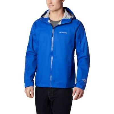 コロンビア メンズ ジャケット・ブルゾン アウター Columbia Men's EvaPOURation Rain Jacket Azul