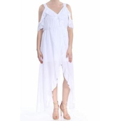 XOXO キスハグ ファッション ドレス XOXO NEW White Womens Size Medium M Ruffle Cold Shoulder Maxi Dress