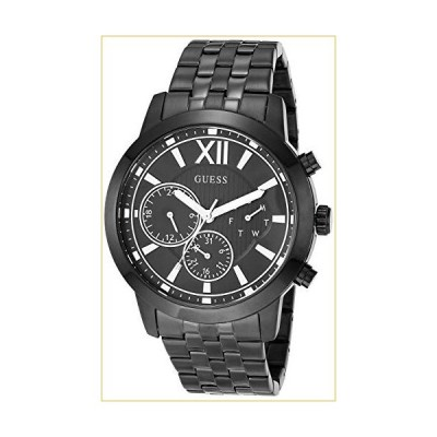GUESS Men's Analog Quartz Watch with Stainless Steel Strap, Black, 22 (Model: GW0068G4) 並行輸入品
