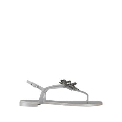 ジュゼッペ・ザノッティ・デザイン GIUSEPPE ZANOTTI トングサンダル ライトグレー 35 革 トングサンダル