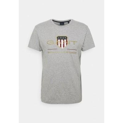 ガント Tシャツ メンズ トップス ARCHIVE SHIELD - Print T-shirt - grey melange