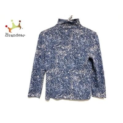 ジュンアシダ 長袖セーター サイズM レディース ダークネイビー×ライトグレー×ブルー  値下げ 20201127