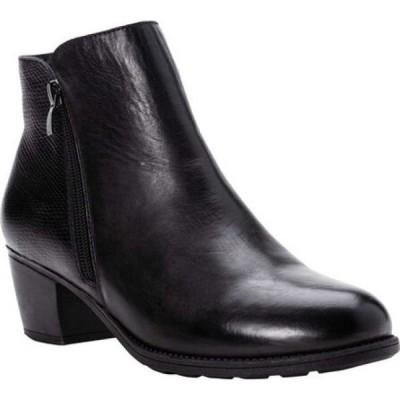 プロペット Propet レディース ブーツ ショートブーツ シューズ・靴 Tobey Ankle Bootie Black Full Grain Leather