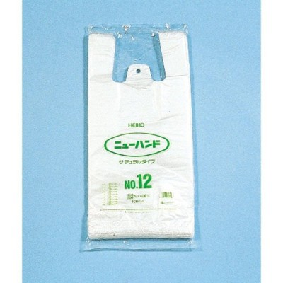 HEIKO ニューハンド ナチュラルタイプ NO.12 100枚入り 006645602 ラッピング袋 梱包袋 レジ袋