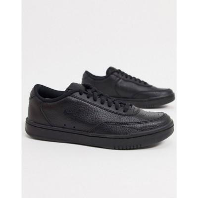 ナイキ Nike レディース スニーカー シューズ・靴 Court Vintage Trainers In Black ブラック