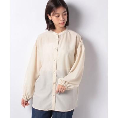 【エヘカソポ】【ehka sopo】バンドカラーシアーシャツ