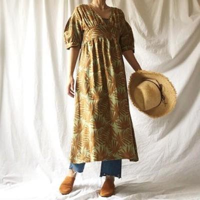 【ポイント5倍】Manic Monday マニックマンデー Leafy Linen Dress リーフィーリネンドレス 9S63006E  BAD STEVIE DAZZLE Manic Monday
