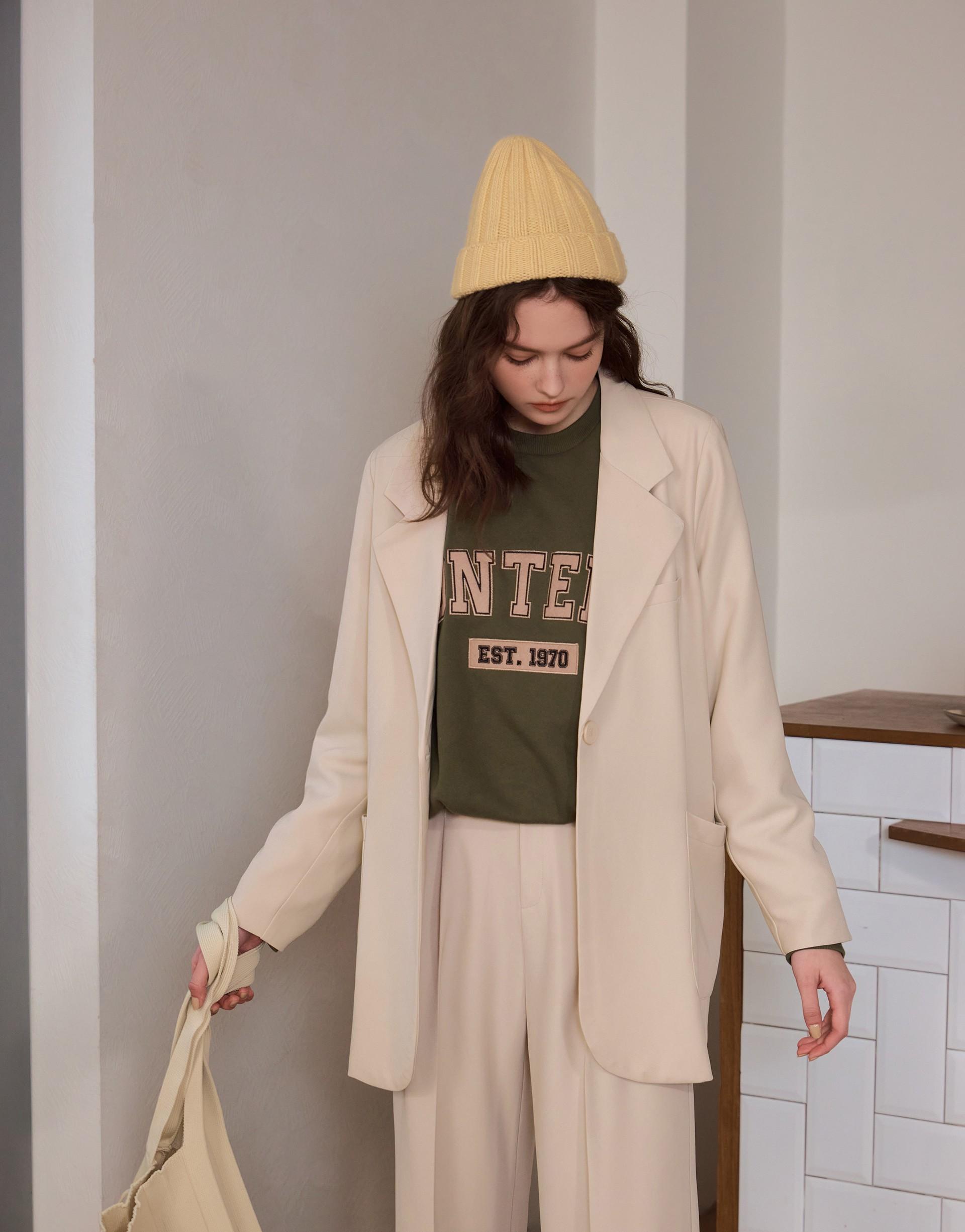 設計感時髦長版西裝外套-PAZZO