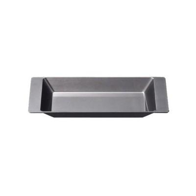 お盆、トレイ 銀透き裏黒塗 寸法: 24.1 x 11.4 x 2.2cm 入数: 60個