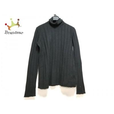 ジョルジオアルマーニクラシコ 長袖セーター サイズ42 L レディース 黒 タートルネック 新着 20200403