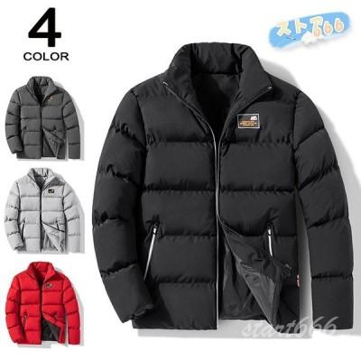 中綿ジャケット メンズ 中綿コート 立ち襟 厚手 カジュアル 保温 防寒 配いろ ダウンジャケット メンズアウター