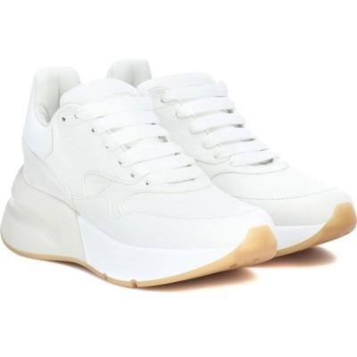 アレキサンダー マックイーン Alexander McQueen レディース スニーカー シューズ・靴 leather and fabric sneakers Optic White/White/Cream