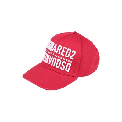 ディースクエアード DSQUARED2 帽子 レッド one size コットン 100% 帽子