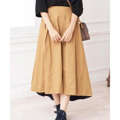 スカート 表裏テレコカラーチノ ロングスカート