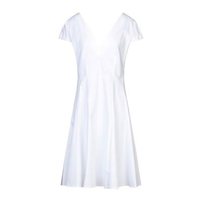SANDRO FERRONE ミニワンピース&ドレス ホワイト 48 コットン 97% / ポリウレタン 3% ミニワンピース&ドレス