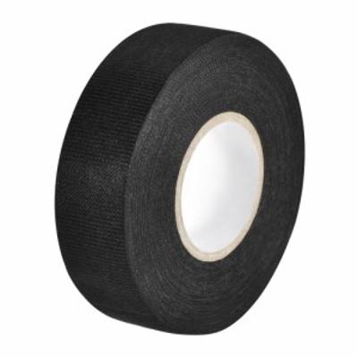 uxcell ワイヤーハーネステープ 布生地テープワイヤーハーネス 高粘度の自動車用 耐摩耗性 接着剤布生地テープ 25mmx15m ブラック