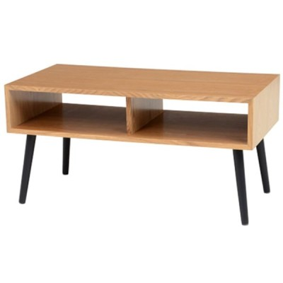 センターテーブル 収納付き ナチュラル (テーブル) 約80×40cm 高さ:約40cm (MT-6481NA) 萩原株式会社(メーカー直送)(ラッピング不可)