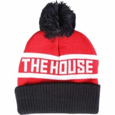 ハウス House メンズ ニット ビーニー 帽子 ball beanie Red/Black