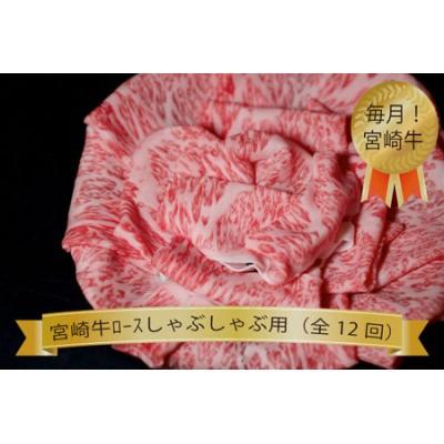 【定期便:全12回】宮崎牛ロースしゃぶしゃぶコース(倉薗牧場)