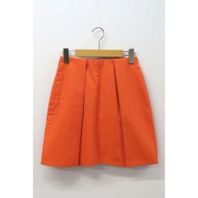 【中古】カルヴェン CARVEN コットン タイト ミニ スカート 34  【ベクトル 古着】