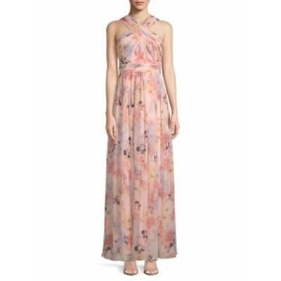 カルバンクライン レディース ワンピース Floral Wrap-Neck Gown