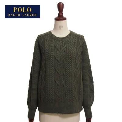 ラルフローレン ポロ レディース アランニット クルーネック セーター/グリーン POLO Ralph Lauren Knit Top