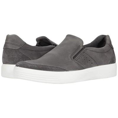 エコー Soft Classic Slip-On メンズ スニーカー 靴 シューズ Magnet Calf Suede/Moonless Cow Nubuck