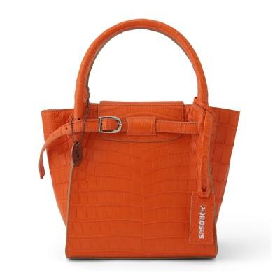 クロコダイル ベルトデザインバッグ オレンジ オレンジ