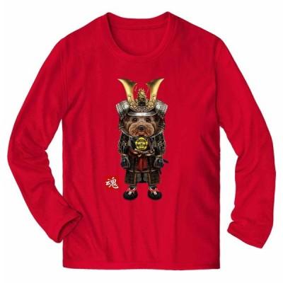 【ヨークシャテリア ドッグ 犬 いぬ 侍 将軍 日本 JAPAN】メンズ 長袖 Tシャツ by Fox Republic