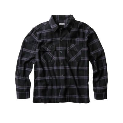 Louis Chavlon(ルイシャブロン)綾起毛チェック柄長袖シャツ カジュアルシャツ, Shirts,
