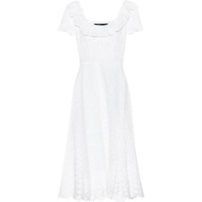 ラルフ ローレン Polo Ralph Lauren レディース ワンピース ミドル丈 ワンピース・ドレス Linen eyelet-lace midi dress White