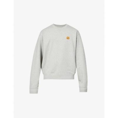 ケンゾー KENZO メンズ スウェット・トレーナー トップス Graphic-embroidered cotton-jersey sweatshirt Pearl Grey