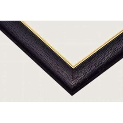 ジグソーパズル用 ゴールドモール木製パネル ブラック (MP054) 53×38cm [5-B] 【フレーム 枠 額 わく ワク ビバリー】