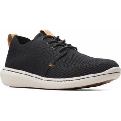 クラークス メンズ スニーカー シューズ Men's Clarks Step Urban Mix Sneaker Black Textile Knit